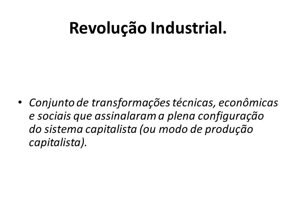 Revolução Industrial.