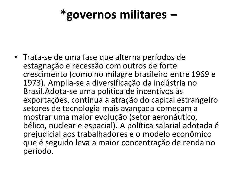 *governos militares –