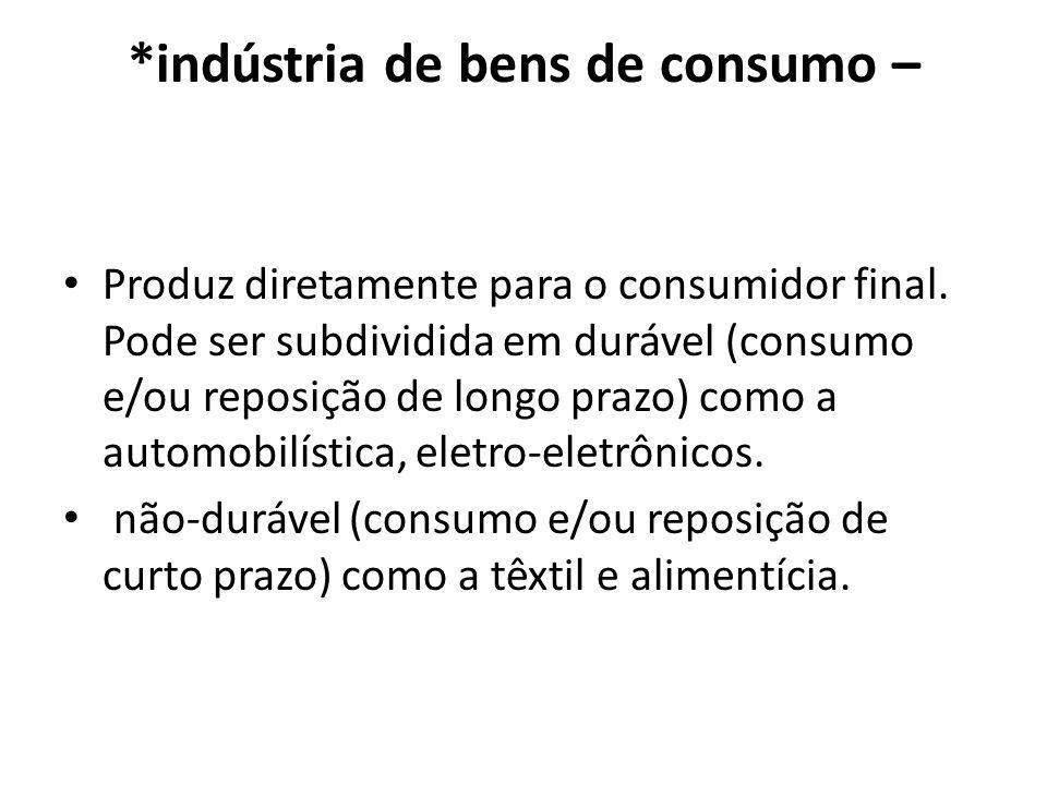*indústria de bens de consumo –