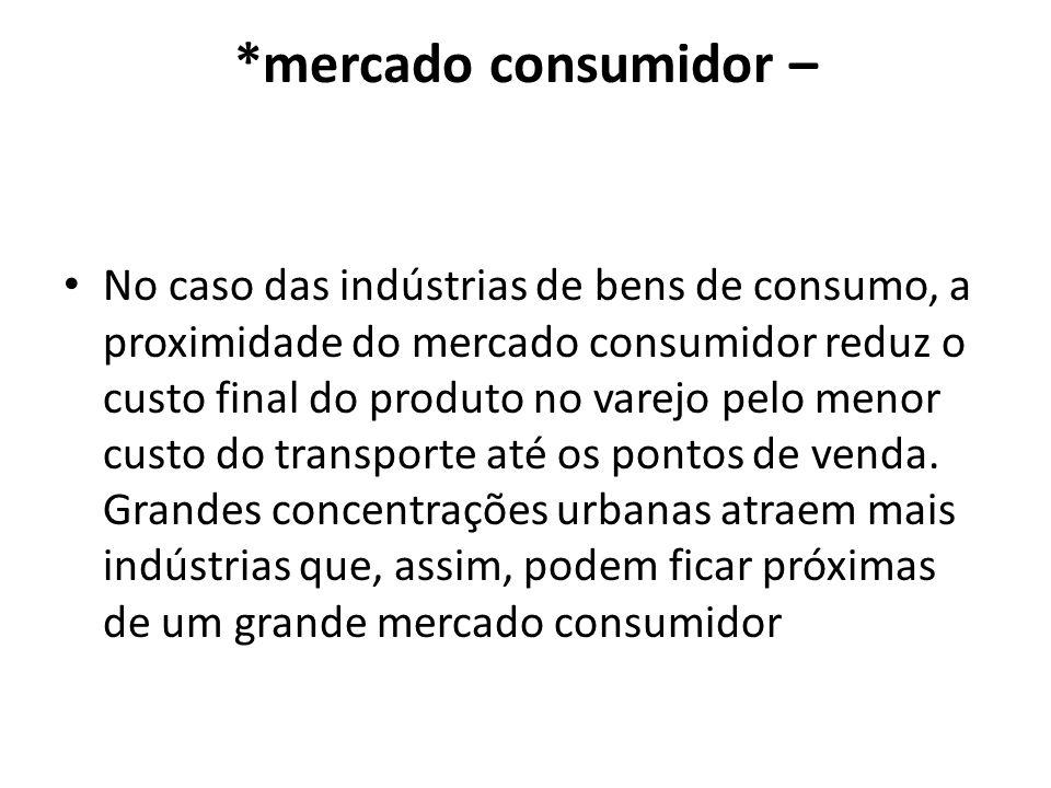 *mercado consumidor –