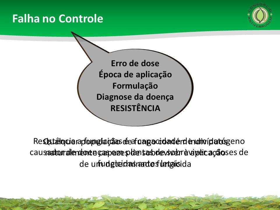 Falha no Controle Erro de dose Época de aplicação Formulação