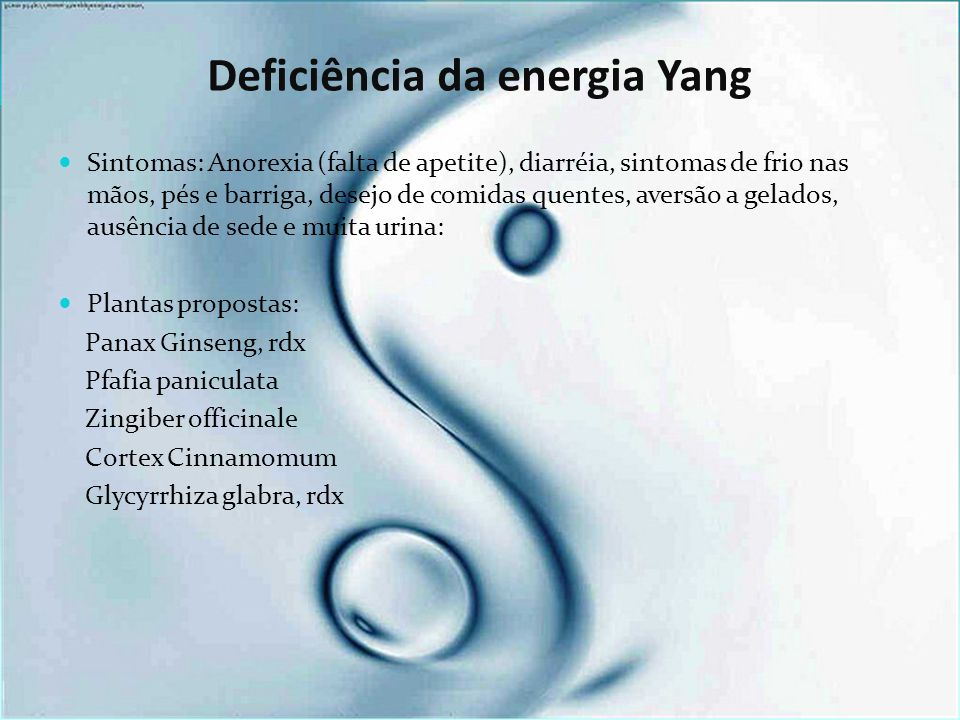 Deficiência da energia Yang