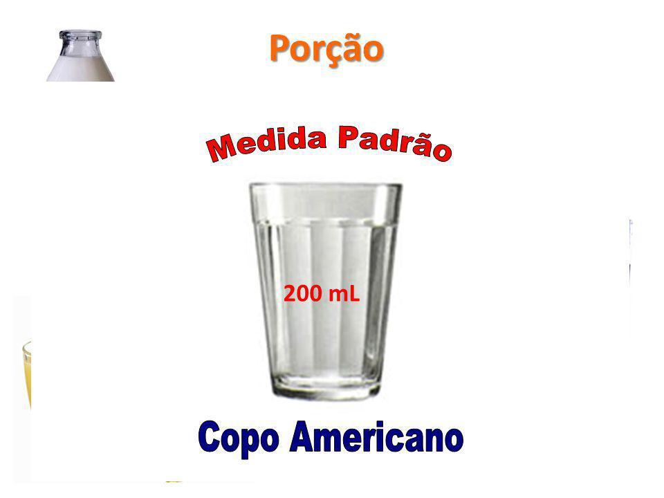 Porção Medida Padrão Copo Americano 200 mL Refrigerante Copo Suco
