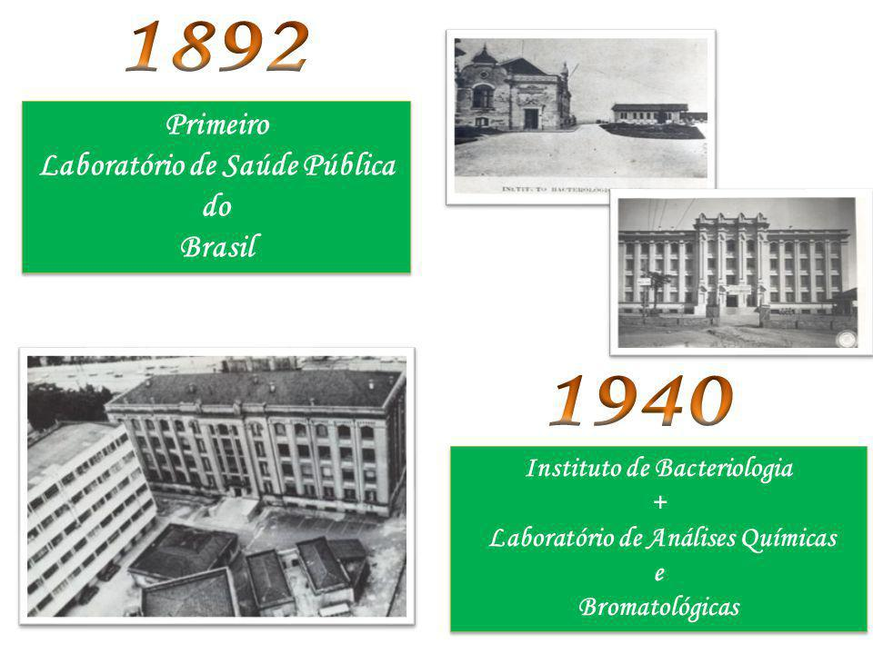1892 1940 Primeiro Laboratório de Saúde Pública do Brasil
