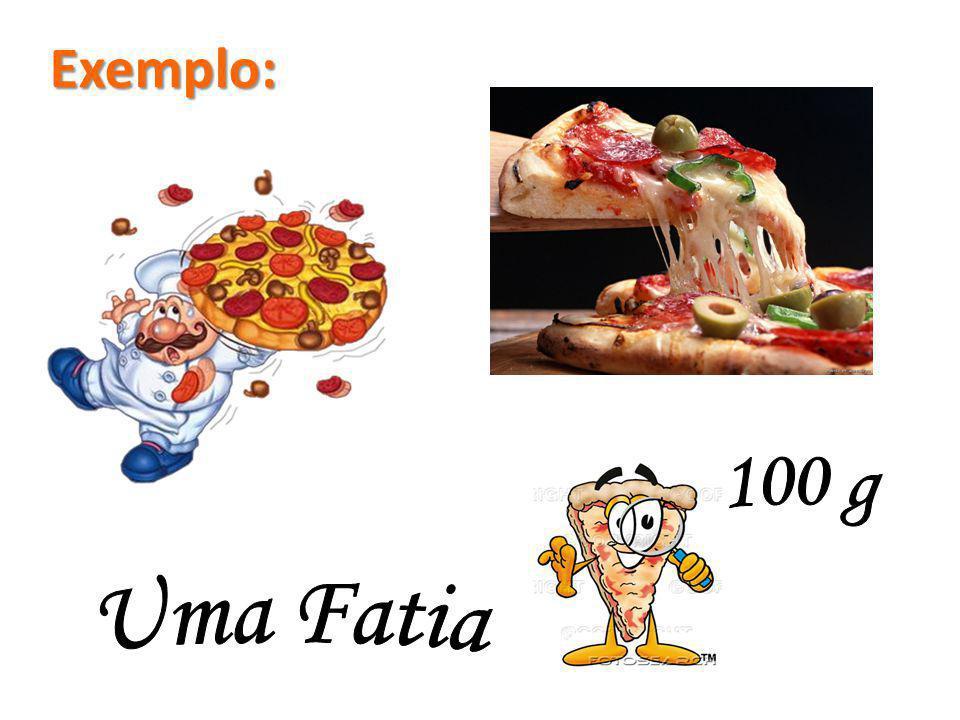 Exemplo: 100 g Uma Fatia