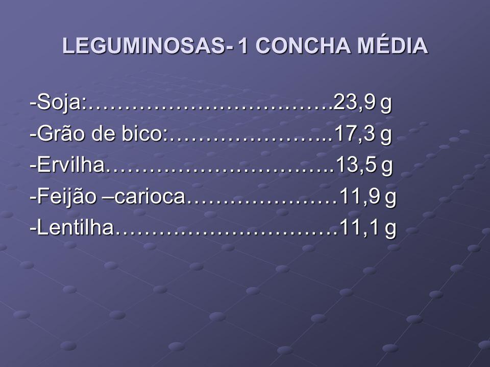 LEGUMINOSAS- 1 CONCHA MÉDIA