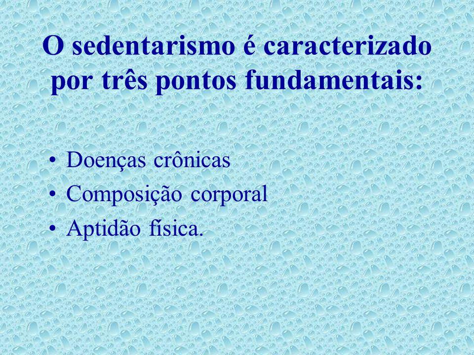 O sedentarismo é caracterizado por três pontos fundamentais: