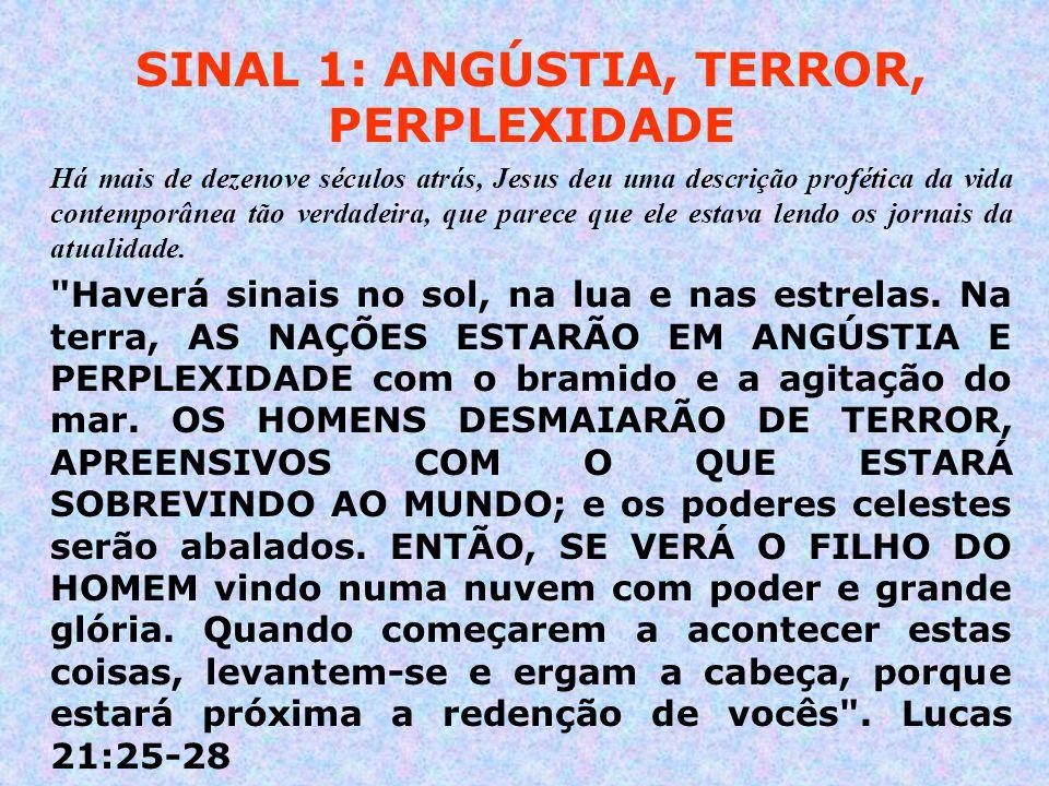 SINAL 1: ANGÚSTIA, TERROR, PERPLEXIDADE