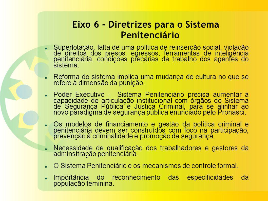 Eixo 6 - Diretrizes para o Sistema Penitenciário