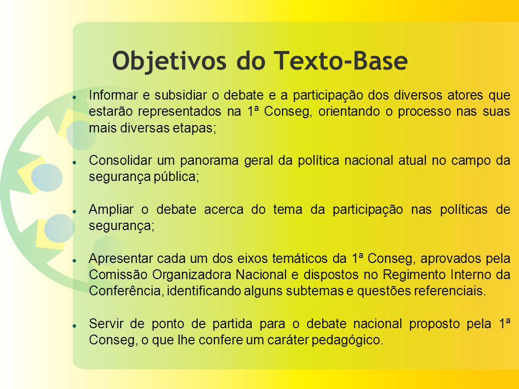 Objetivos do Texto-Base