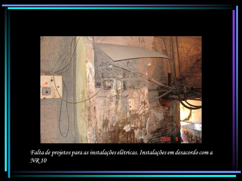 Falta de projetos para as instalações elétricas