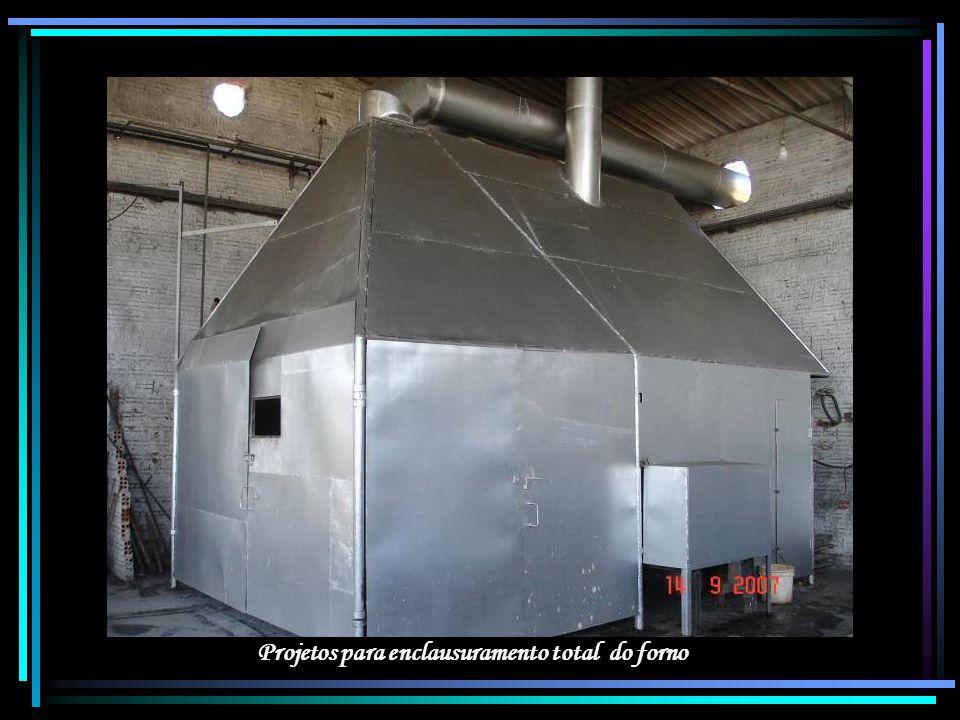 Projetos para enclausuramento total do forno