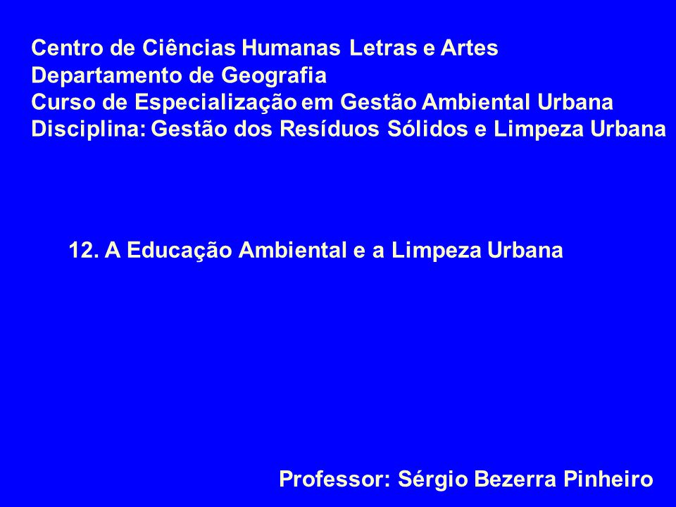 Centro de Ciências Humanas Letras e Artes
