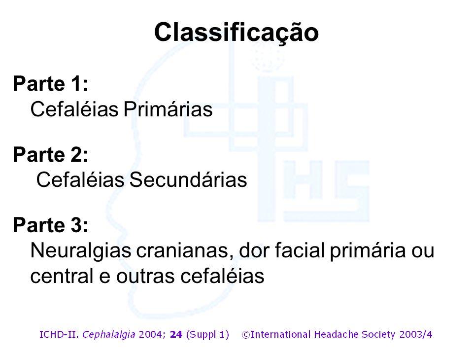 Classificação Parte 1: Cefaléias Primárias