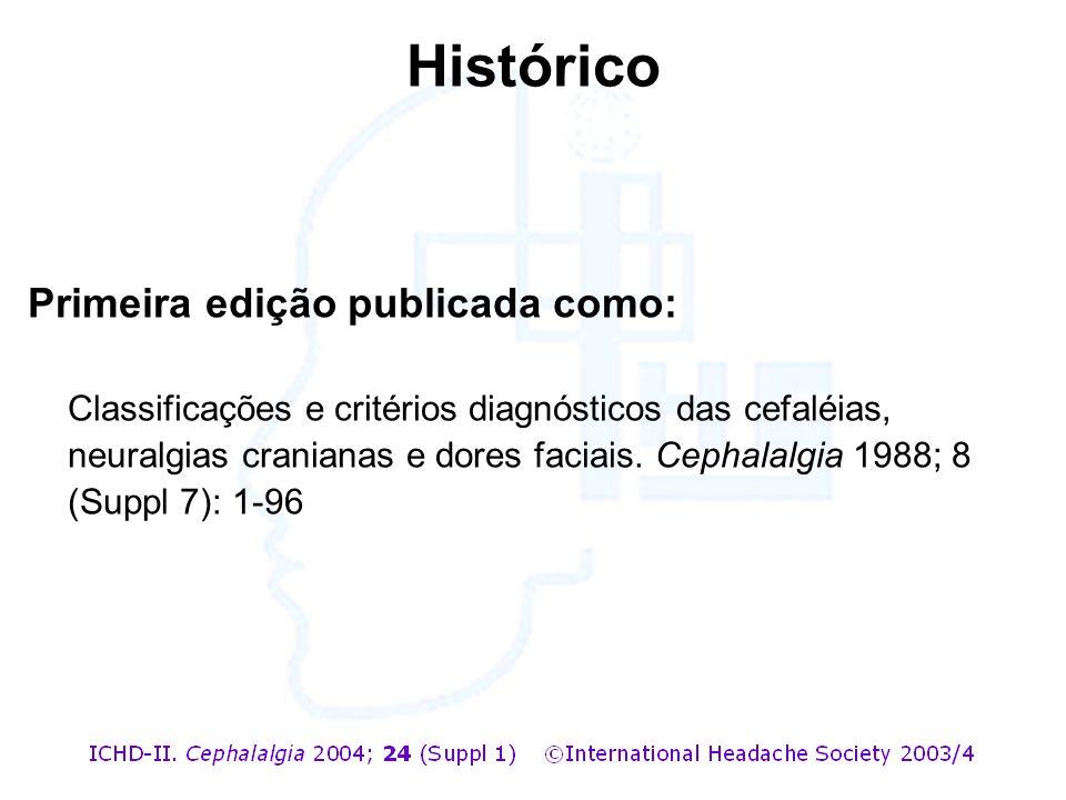 Histórico Primeira edição publicada como:
