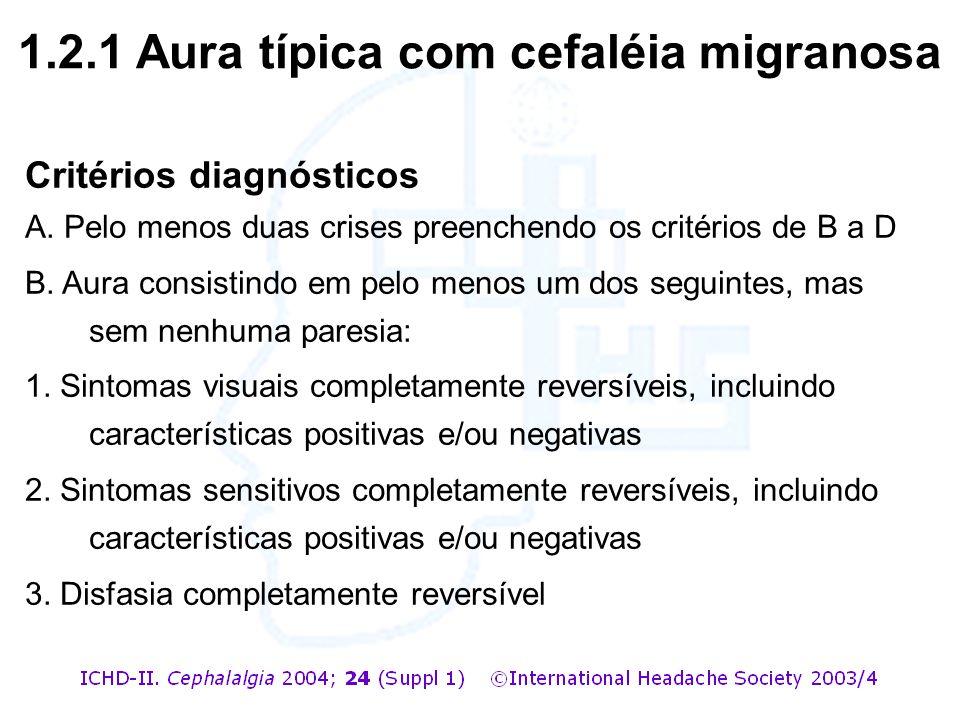 1.2.1 Aura típica com cefaléia migranosa