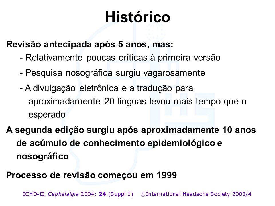 Histórico Revisão antecipada após 5 anos, mas: