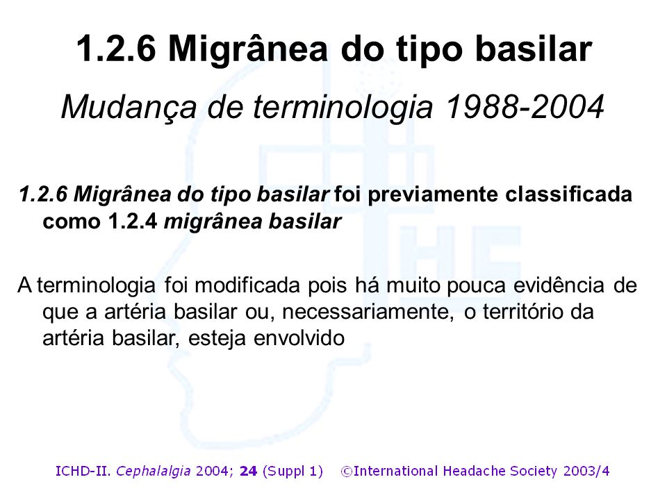 1.2.6 Migrânea do tipo basilar