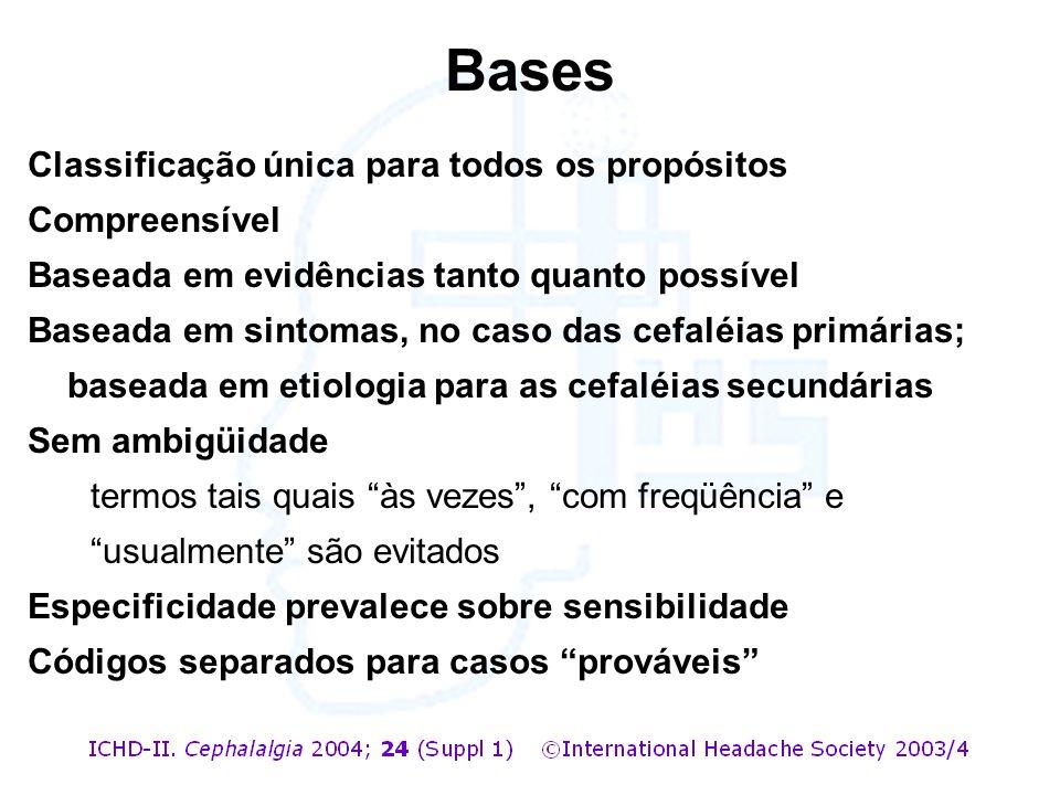 Bases Classificação única para todos os propósitos Compreensível