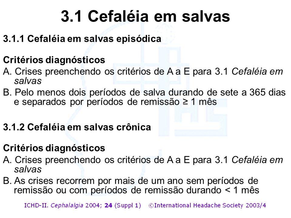 3.1 Cefaléia em salvas 3.1.1 Cefaléia em salvas episódica