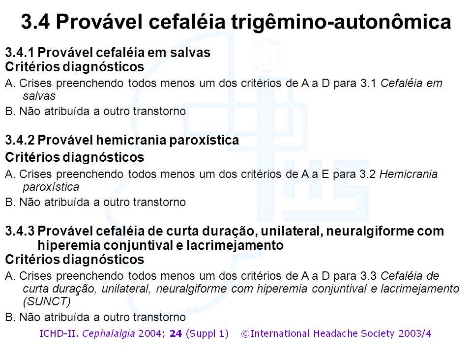 3.4 Provável cefaléia trigêmino-autonômica