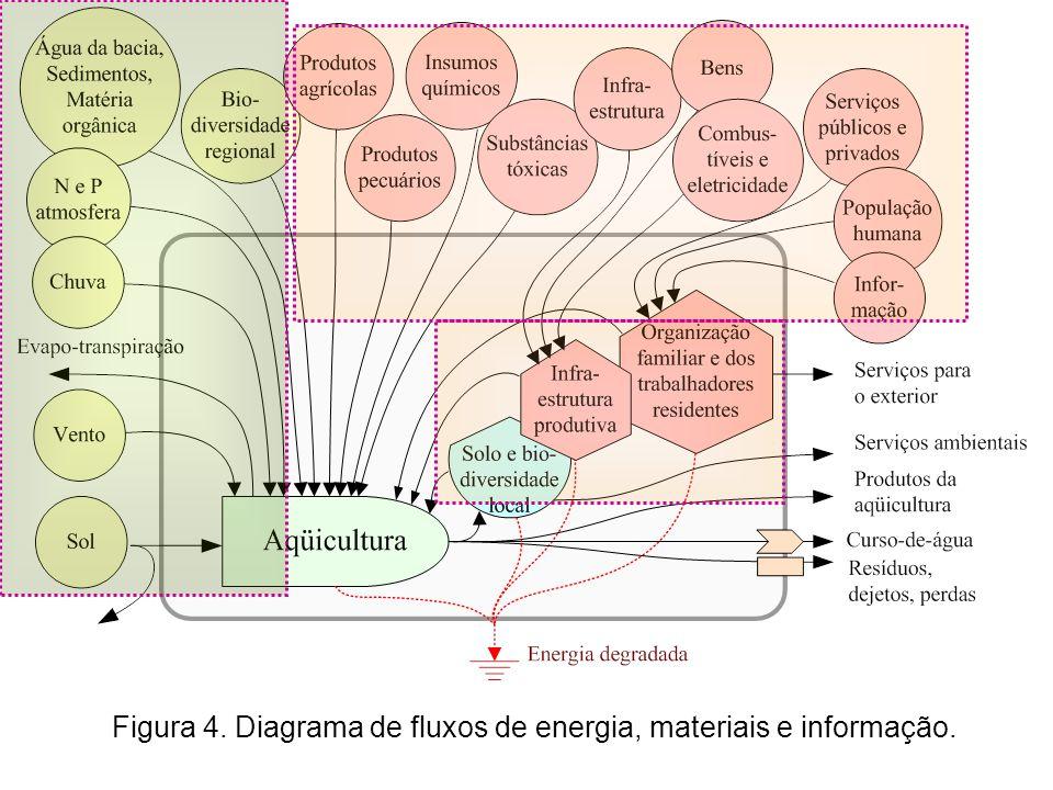Figura 4. Diagrama de fluxos de energia, materiais e informação.