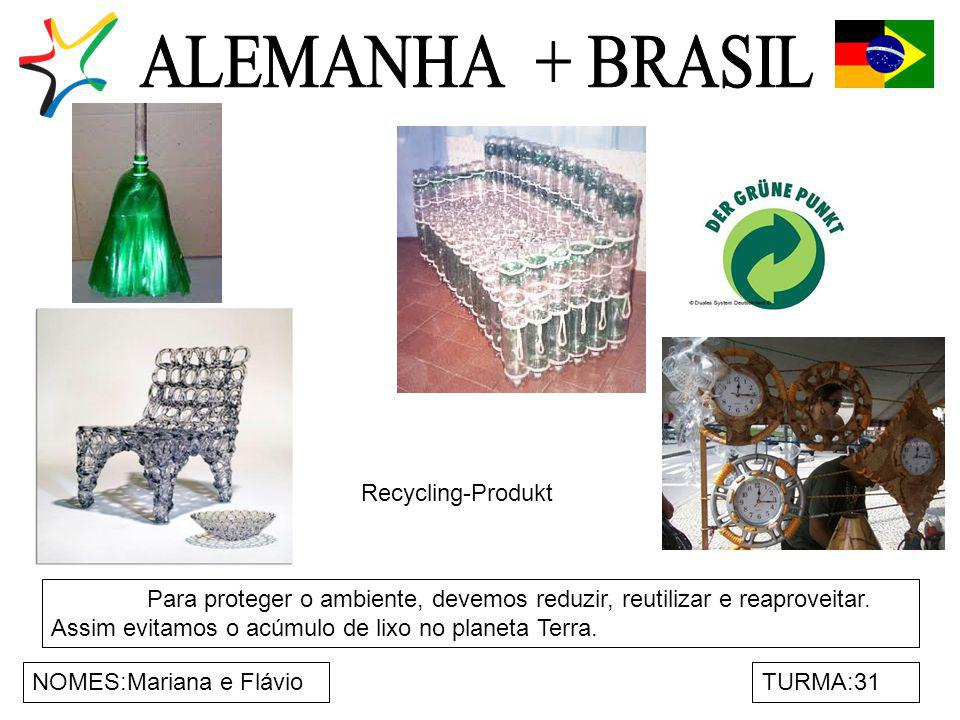 ALEMANHA + BRASIL Recycling-Produkt