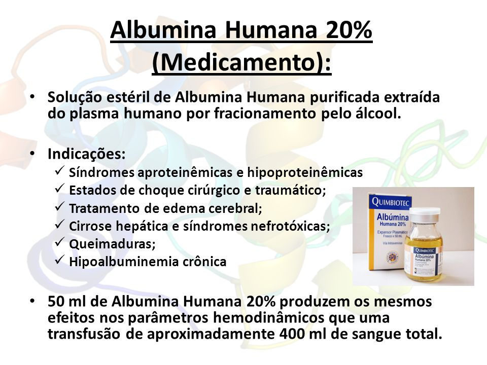Albumina Humana 20% (Medicamento):
