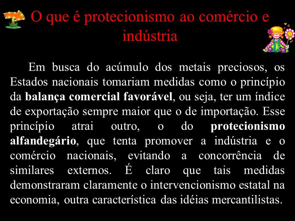 O que é protecionismo ao comércio e indústria