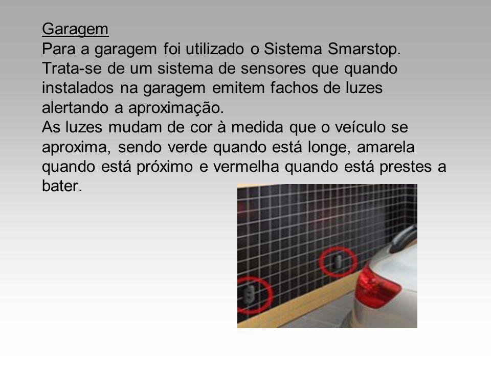 Garagem Para a garagem foi utilizado o Sistema Smarstop