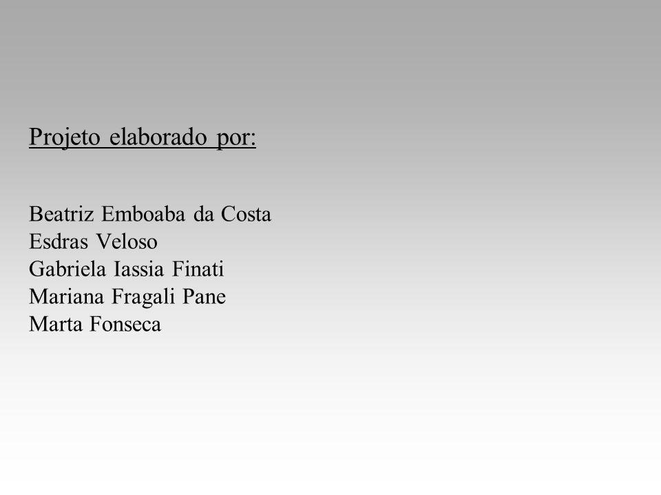 Projeto elaborado por: Beatriz Emboaba da Costa Esdras Veloso Gabriela Iassia Finati Mariana Fragali Pane Marta Fonseca