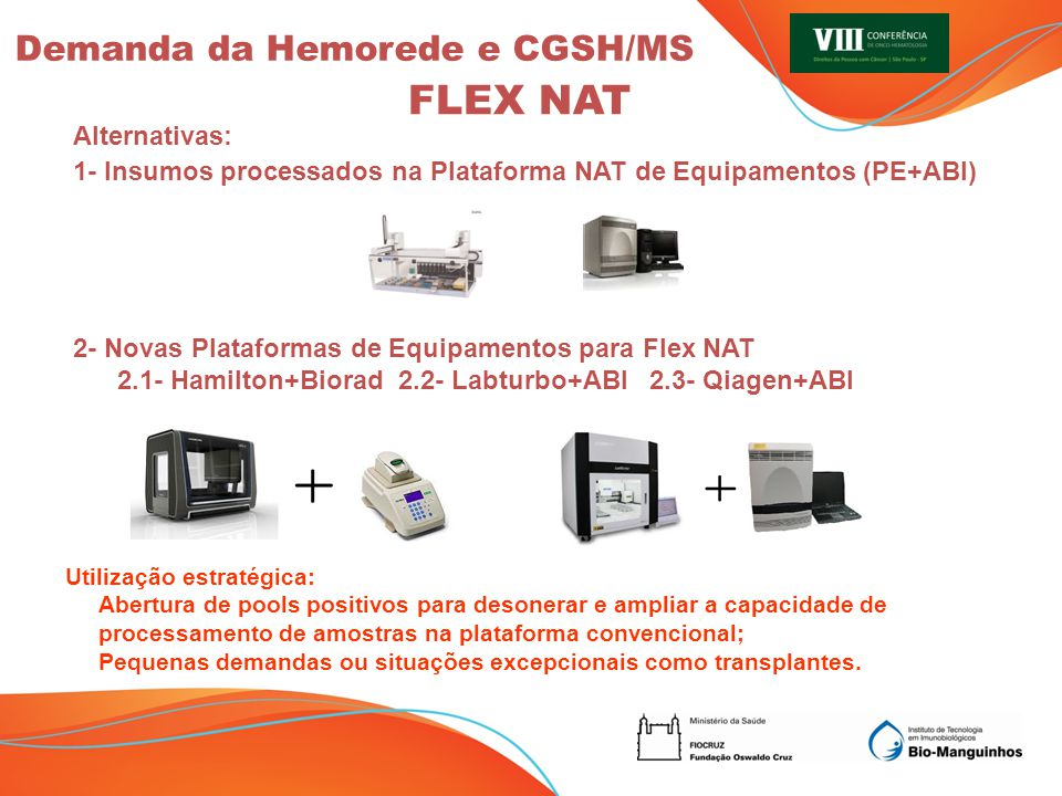 FLEX NAT Demanda da Hemorede e CGSH/MS Alternativas:
