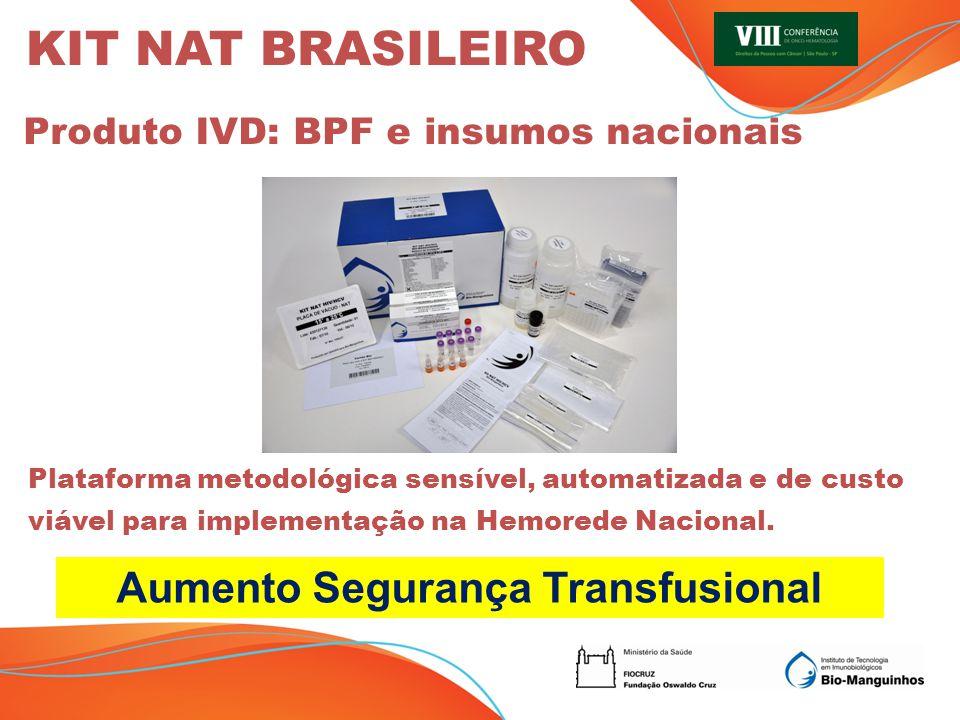 Aumento Segurança Transfusional