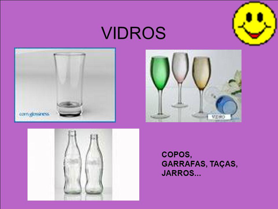 VIDROS COPOS, GARRAFAS, TAÇAS, JARROS...