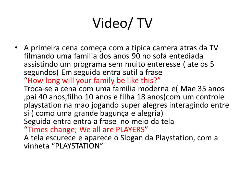 Video/ TV