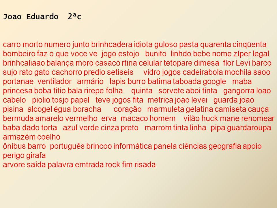 Joao Eduardo 2ªc