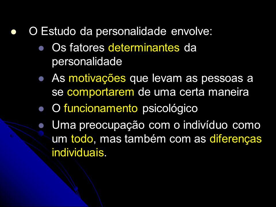 O Estudo da personalidade envolve: