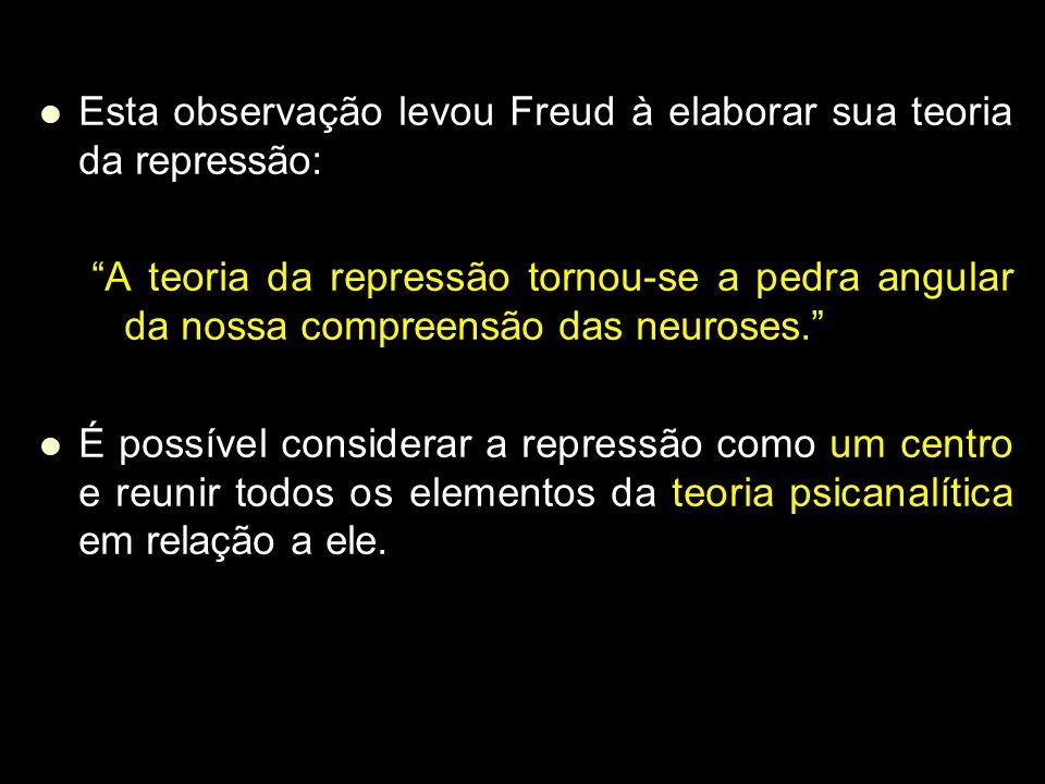 Esta observação levou Freud à elaborar sua teoria da repressão: