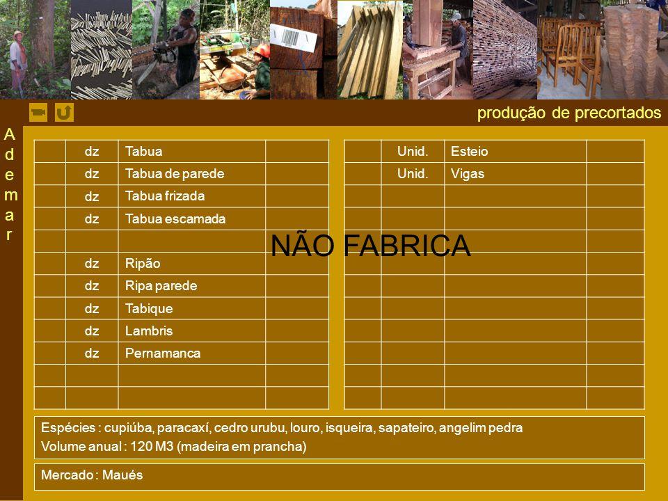NÃO FABRICA produção de precortados Ademar dz Tabua Unid. Esteio