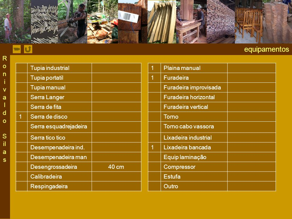 equipamentos Ronivaldo Silas Tupia industrial 1 Plaina manual