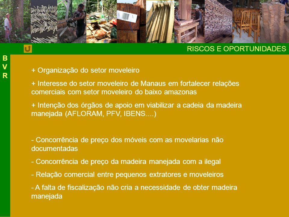 BVR RISCOS E OPORTUNIDADES. + Organização do setor moveleiro.