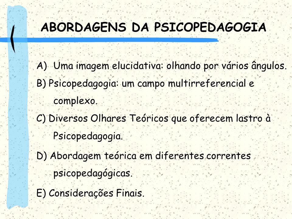 ABORDAGENS DA PSICOPEDAGOGIA