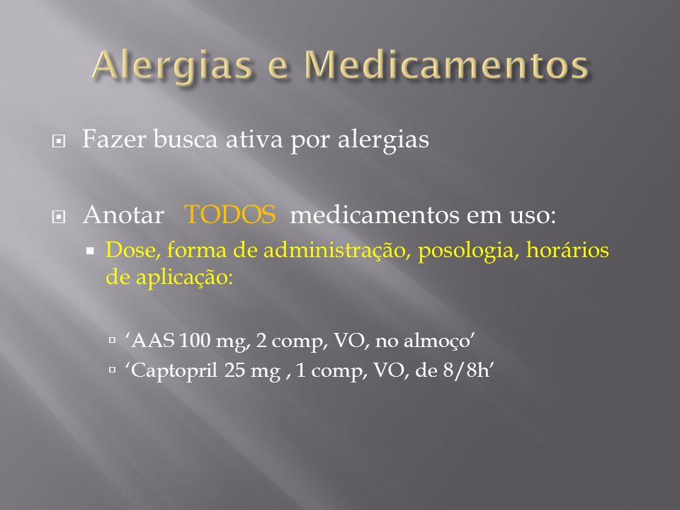 Alergias e Medicamentos