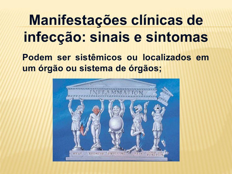 Manifestações clínicas de infecção: sinais e sintomas