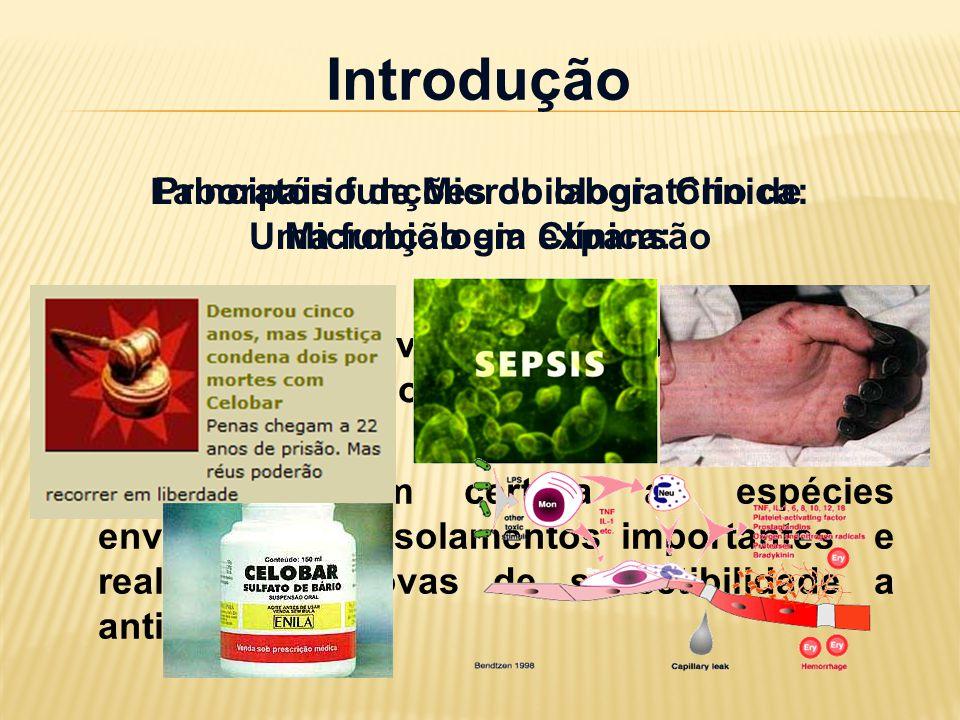 Introdução Principais funções do laboratório de Microbiologia Clínica:
