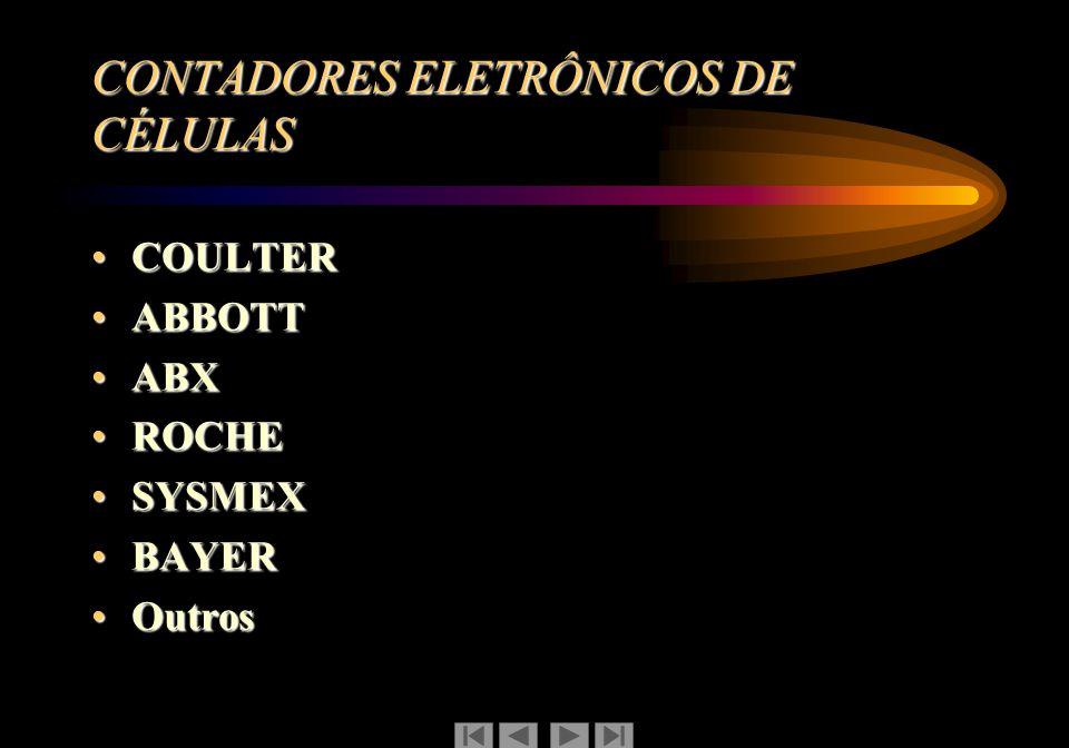 CONTADORES ELETRÔNICOS DE CÉLULAS