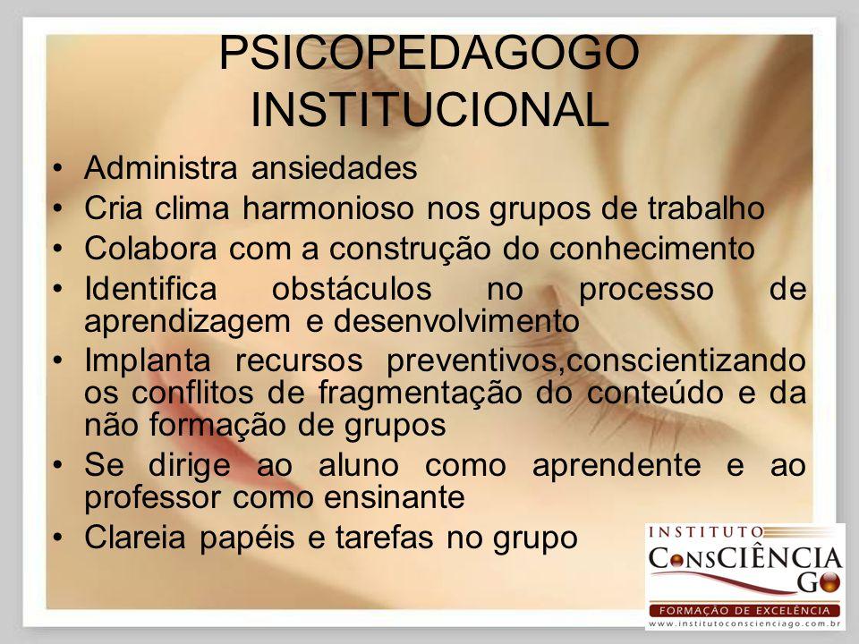 PSICOPEDAGOGO INSTITUCIONAL