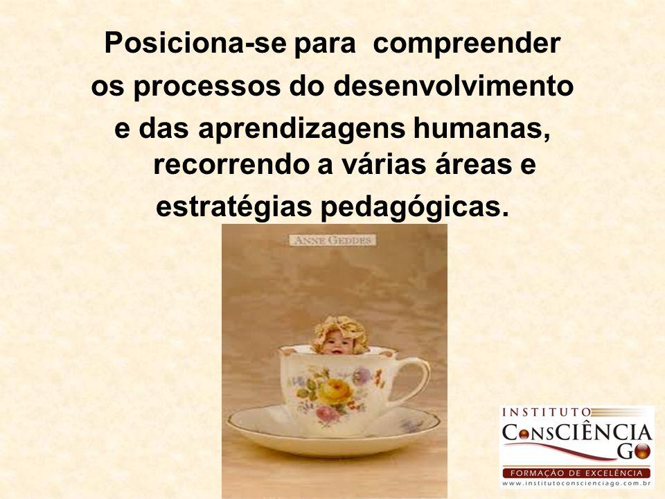 Posiciona-se para compreender os processos do desenvolvimento