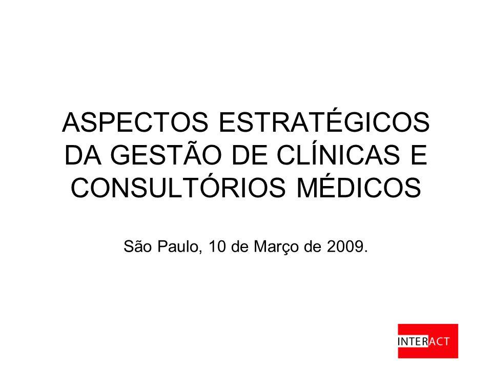 ASPECTOS ESTRATÉGICOS DA GESTÃO DE CLÍNICAS E CONSULTÓRIOS MÉDICOS