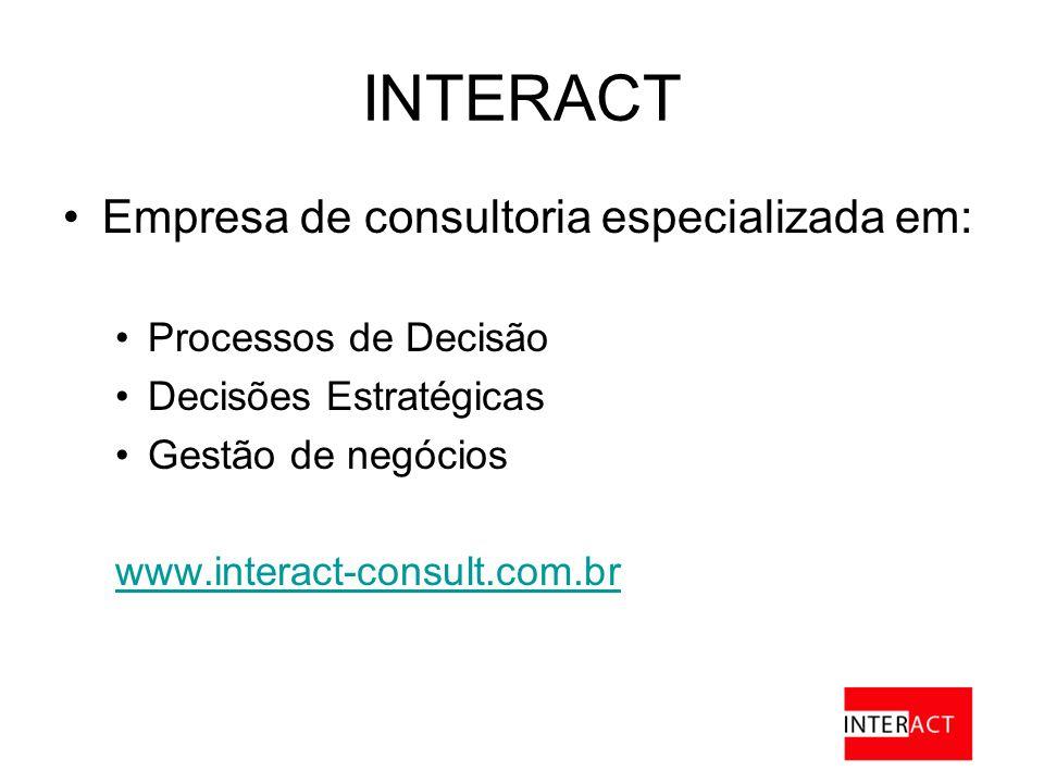 INTERACT Empresa de consultoria especializada em: Processos de Decisão